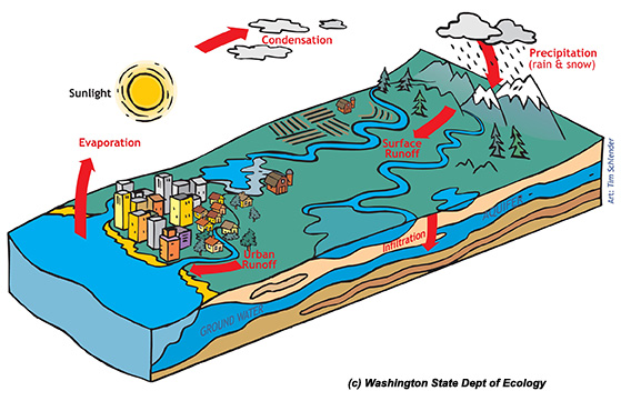 how to draw a watershed